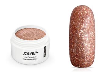 Jolifin Acryl Farbpulver rosy-copper Glitter 5g