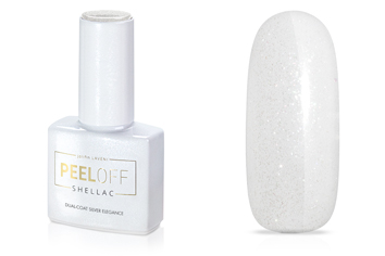 Jolifin LAVENI Shellac PeelOff - Dual-Coat silver elegance 12ml