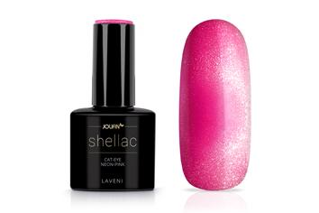 Jolifin LAVENI Shellac - Cat-Eye neon-pink 12ml