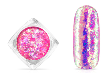 Jolifin Soft Opal Flakes - pastell neon-pink