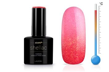 Jolifin LAVENI Shellac - Thermo apricot-pink shine 12ml