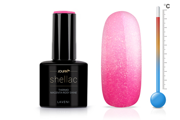 Jolifin LAVENI Shellac - Thermo magenta-rosy shine 12ml