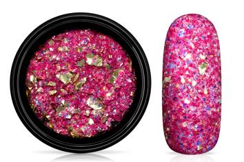 Jolifin LAVENI Foil Flakes Glitter - gold & magenta