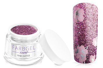 Jolifin Farbgel 4plus pink Glitter 5ml