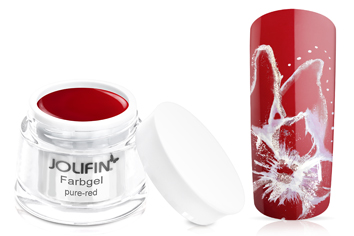 Jolifin Farbgel 4plus pure-red 5ml
