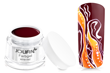 Jolifin Farbgel 4plus wine-red 5ml