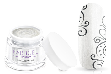 Jolifin Farbgel metallic white 5ml