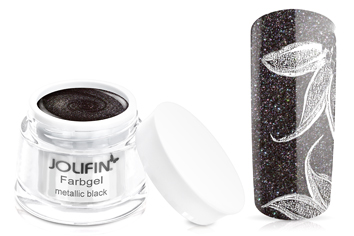 Jolifin Farbgel 4plus metallic black 5ml