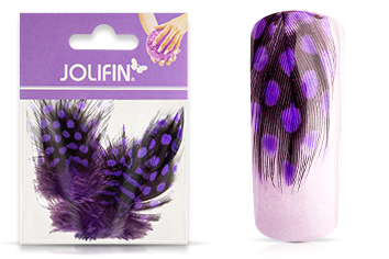 Jolifin Nailart Feder purple leopard