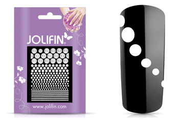 Jolifin Fancy Nail Sticker white 3