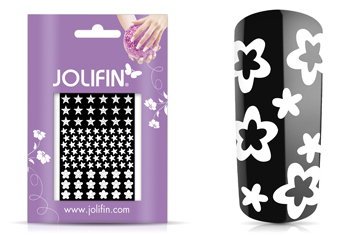 Jolifin Fancy Nail Sticker white 4