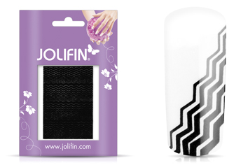 Jolifin Fancy Nail Sticker black 1