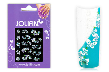 Jolifin Brillant Flower Nail Sticker 1