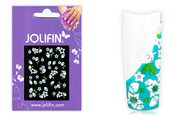 Jolifin Brilliant Flower Nail Sticker 4