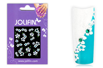 Jolifin Brilliant Flower Nail Sticker 6