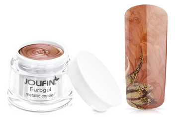 Jolifin Farbgel 4plus metallic copper 5ml