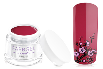 Jolifin Farbgel 4plus hibiscus 5ml