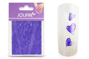 Jolifin Nailart painted sheet purple