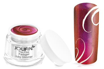 Jolifin Flip-Flop Farbgel ruby glimmer 5ml
