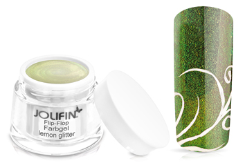 Jolifin Flip-Flop Farbgel lemon glitter 5ml