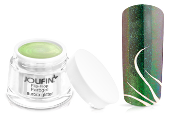 Jolifin Flip-Flop Farbgel 4plus aurora glitter 5ml