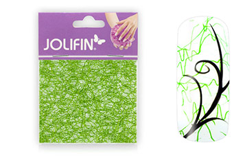 Jolifin Nailart spiderweb green