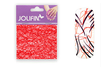 Jolifin Nailart spiderweb red