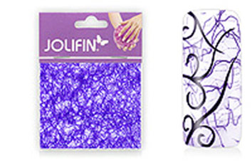 Jolifin Nailart spiderweb deep blue