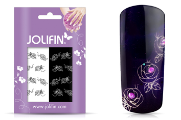 Jolifin Nailart Tattoos black and white Nr. 8