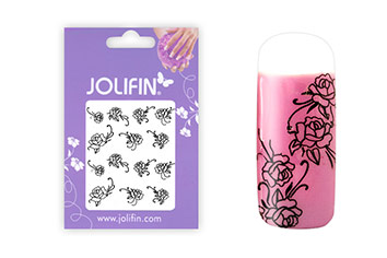Jolifin Nailart Tattoos black and white Nr. 9