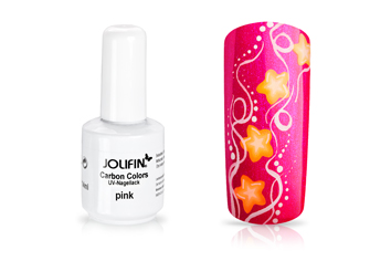 Jolifin Carbon Colors UV-Nagellack pink 11ml