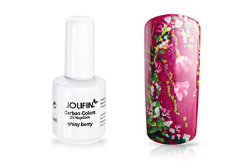 Jolifin Carbon Colors UV-Nagellack shiny berry 11ml