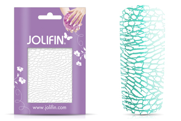 Jolifin Cracked Nailart Folie white 6