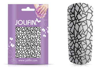 Jolifin Cracked Nailart Folie black 1