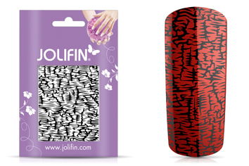 Jolifin Cracked Nailart Folie black 2