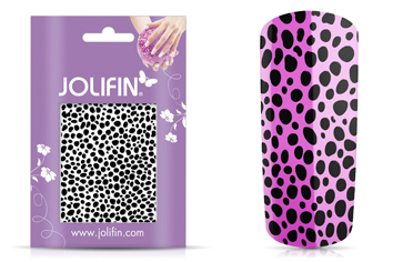 Jolifin Cracked Nailart Folie black 5