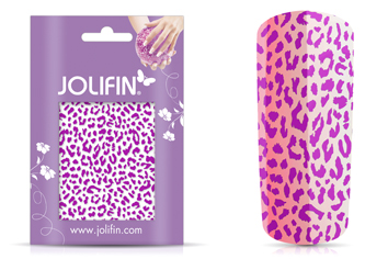 Jolifin Cracked Nailart Folie purple 3