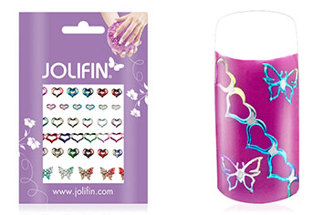 Jolifin Fancy Nail Sticker silver rainbow 9