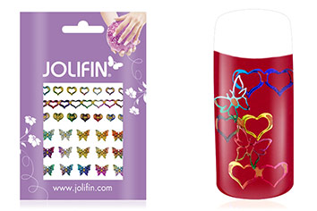 Jolifin Fancy Nail Sticker golden rainbow 9