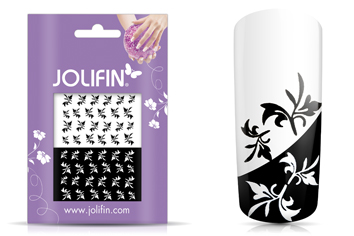 Jolifin Nailart Tattoos black and white Nr. 18