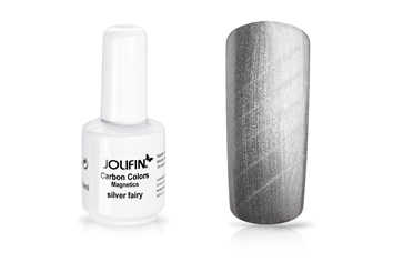 Jolifin Carbon Quick-Farbgel Magnetics silver fairy 11ml