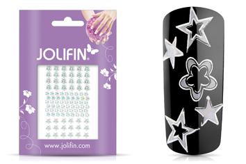 Jolifin Fancy Nail Sticker silver 4