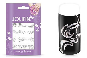Jolifin Fancy Nail Sticker silver 5