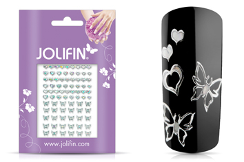 Jolifin Fancy Nail Sticker silver 9