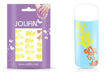 Jolifin Jolly Nailart Tattoo 3 yellow