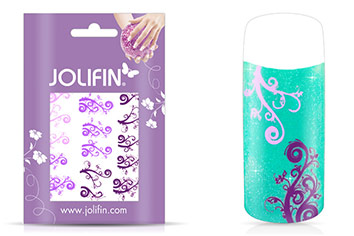 Jolifin Jolly Nailart Tattoo 3 purple
