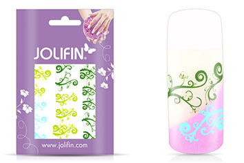 Jolifin Jolly Nailart Tattoo 3 green