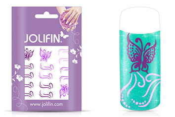 Jolifin Jolly Nailart Tattoo 4 purple