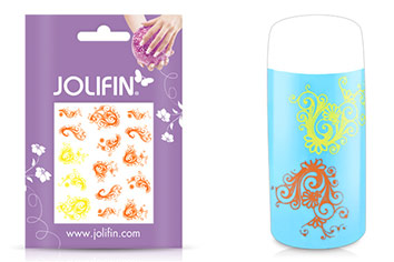 Jolifin Jolly Nailart Tattoo 7 yellow