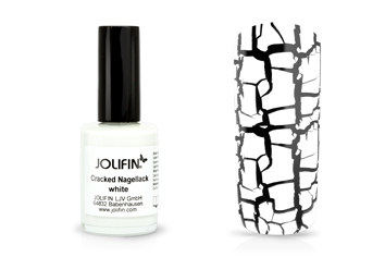 Jolifin Cracked Nagellack white 14ml
